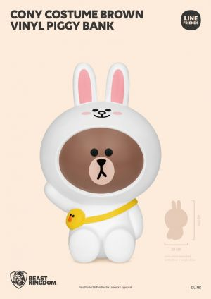 VPB-006-LINE FRIENDS Series Cony costume Brown vinyl piggy bank