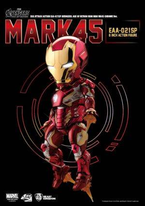 EAA-021SP AVENGERS: AGE OF ULTRON IRON MAN MK45 WITH ULTRON SENTRY ACCY Chrome Ver.