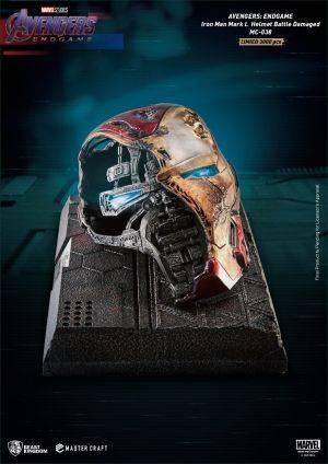 MC-038 Avengers: Endgame Master Craft Iron Man Mark50 Helmet Battle Damaged
