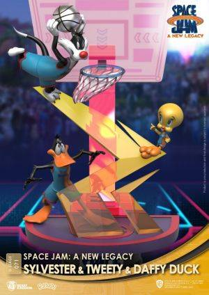 Diorama Stage-071-Space Jam: A New Legacy -Sylvester & Tweety & Daffy Duck Close Box