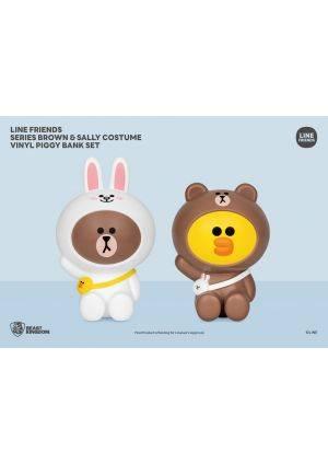 VPB-008-LINE FRIENDS Series Brown & Sally costume vinyl piggy bank set